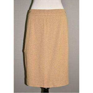 TRINA TURK  Beige Knit Pencil Skirt